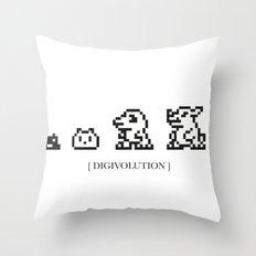 DIGIVOLUTION Throw Pillow