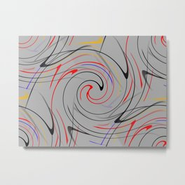 Abstract Action Metal Print