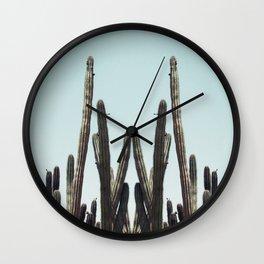Cactus Twins Wall Clock