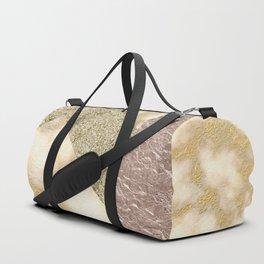 rosegold glitter -marble Duffle Bag