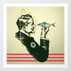 Hypnotic sardine  Art Print