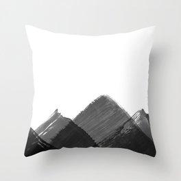 Minimalist Mountain Ink Art Print Throw Pillow