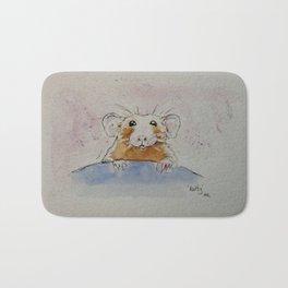 Pet rat portrait. Bath Mat