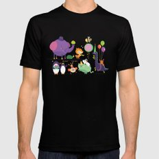 Party animals Mens Fitted Tee Black MEDIUM