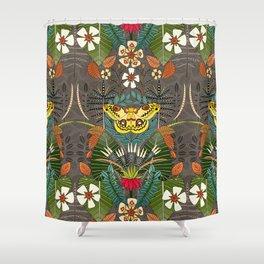 tropical moth paradise sandalwood Shower Curtain