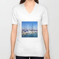 marina V-neck T-shirts featuring Marina Forest by Ken Seligson