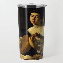 "Michelangelo Merisi da Caravaggio ""The Lute Player"" Travel Mug"