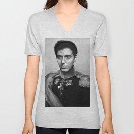 Al Pacino Scar Face General Portrait Painting | Fan Art Unisex V-Neck