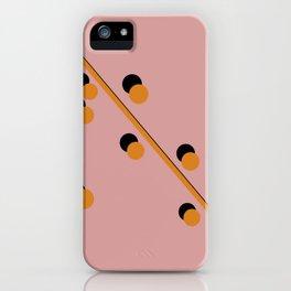 Mustard on Black Globular and line iPhone Case