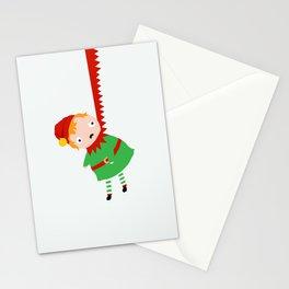 HANGING ELF Stationery Cards