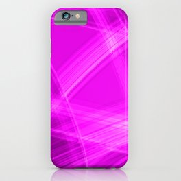 Light strokes with pink diagonal lines from intersecting glowing bright energy waves. iPhone Case