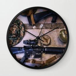 A Marine's Best Friend Wall Clock