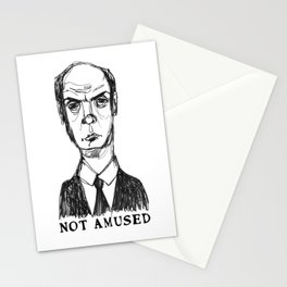 Not Amused (With Text) Stationery Cards