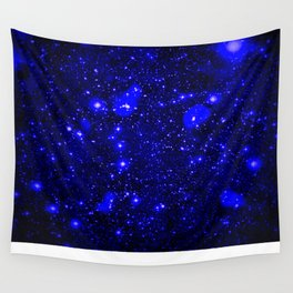 Dark Matter Galaxy Blue Wall Tapestry
