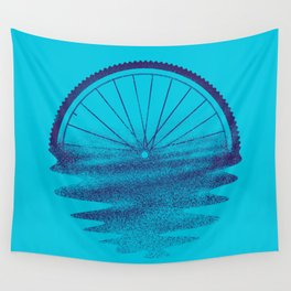 Blue Sunset Mystery Wall Tapestry