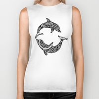 dolphins Biker Tanks featuring Dolphins by Emma Barker