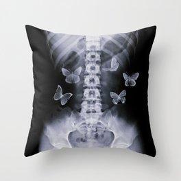 X-Ray Conceptual Butterflies  Throw Pillow