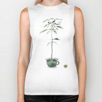 avocado Biker Tanks featuring Avocado Tree by J Arell