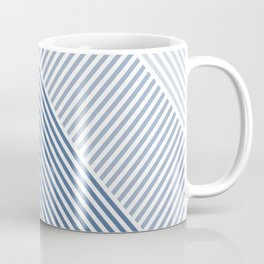 Shades of Blue Abstract geometric pattern Coffee Mug
