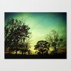 Orange Green Blue Sky Canvas Print