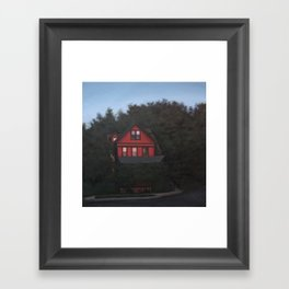 Red House, Out in the Blue print of original oil painting Framed Art Print