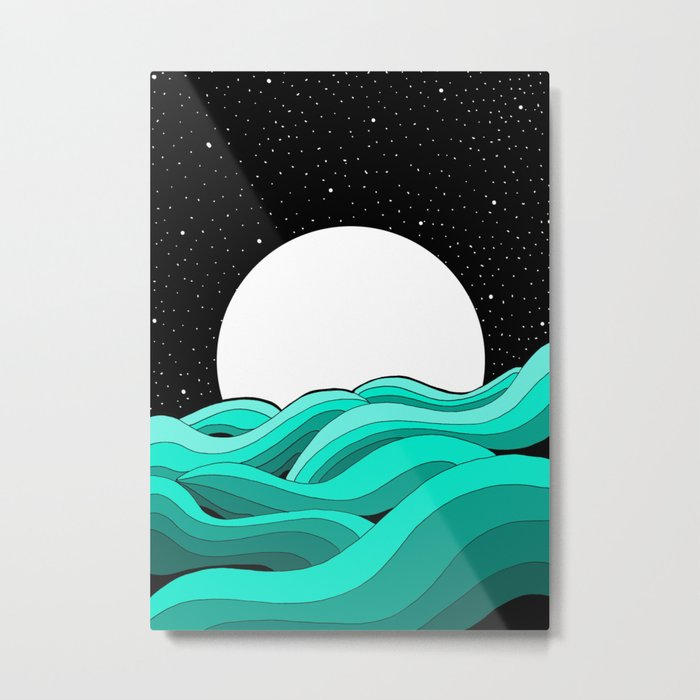 Stars and the Sea Metal Print