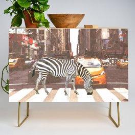 Zebra in New York City Credenza