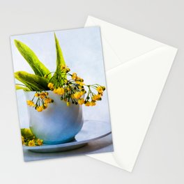 A Bunch Of Lime Blossoms In A Teacup Stationery Cards