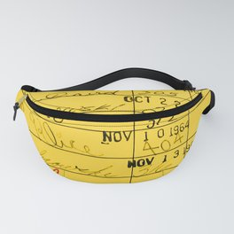 Library Card 23322 Yellow Fanny Pack