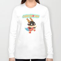 superheros Long Sleeve T-shirts featuring Candywoman by Alapapaju