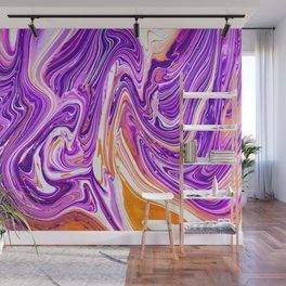 Purple Groovy Swirl Pattern Wall Mural
