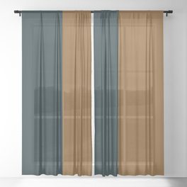 Color Block Abstract XI Sheer Curtain