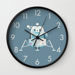 Apollo 11 Lunar Lander Module - Plain Slate Wall Clock