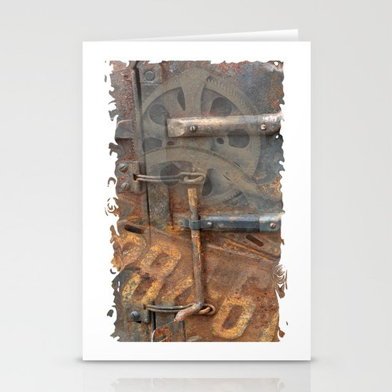 Rusty Stuff Montage Stationery Cards