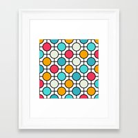 polka dots Framed Art Prints featuring Polka Dots by Dizzy Moments