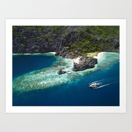 Island hopping around the Philippine Islands Art Print