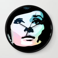posters Wall Clocks featuring Audrey Hepburn Posters by Creativehelper