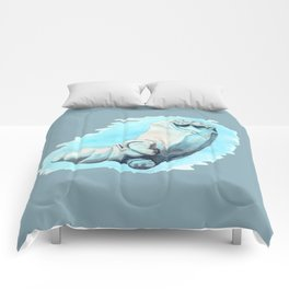 Baby Hippo with a Twist Underwater Fantasia Ballet Comforters