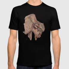 Bison SMALL Black Mens Fitted Tee