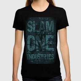 Slam 1 Industries Blueer Skull Cross Bones T-shirt