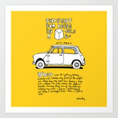 Mini Copper Classic. Thought for being in a box 152 ft³. Art Print