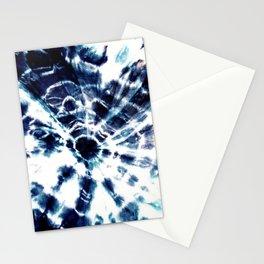 Tie Dye Sunburst Blue Stationery Cards