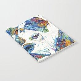Colorful English Bulldog Art By Sharon Cummings Notebook