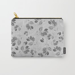 Black and White Leaves Pattern #2 Carry-All Pouch
