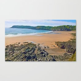 Caswell Bay, Swansea, Gower, Wales UK Canvas Print