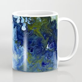 Abstract Nature Acrylic Pour Coffee Mug