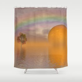 when the moon touched earth -13- Shower Curtain