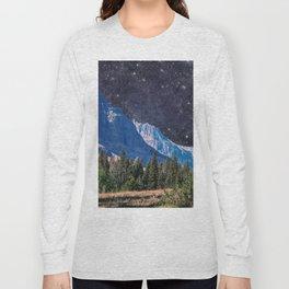 Night Sky Mountain Long Sleeve T-shirt