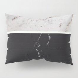 White Glitter Marble & Black Marble #1 #decor #art #society6 Pillow Sham
