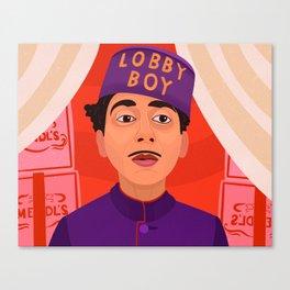 Lobby Boy Canvas Print